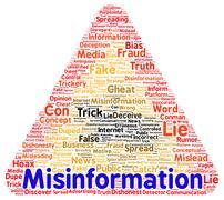 Misinformation word cloud shape Stock Illustration