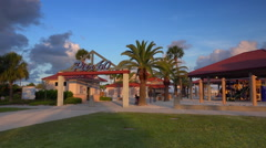 Entrance to Pier 60 on Clearwater Beach Stock Footage