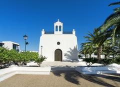 Church in Uga on Lanzarote Stock Photos