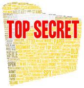 Top secret word cloud shape Stock Illustration