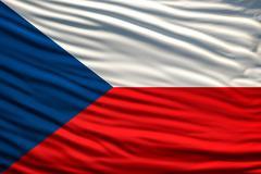 czech republic flag - stock illustration