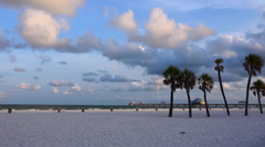 Clearwater Beach at sunrise - stock footage