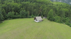 Aerial shoot of a romantic house Stock Footage