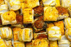Savoury pastries Stock Photos