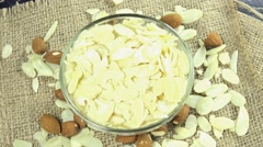 Minced almonds (loopable) Stock Footage