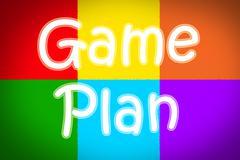 game plan concept - stock illustration