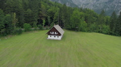 House in a mauntain national park Stock Footage