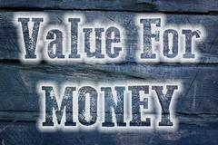 Stock Illustration of value for money concept