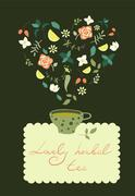 Cup of herbal tea Stock Illustration