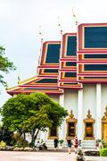 Wat Pho is a Buddhist temple in Phra Nakhon district, Bangkok. Stock Photos
