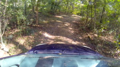 Stock Video Footage of Car rides in the woods.