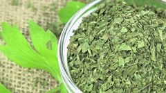 Dried lovage (loopable) Stock Footage