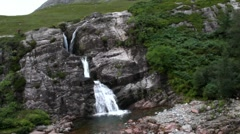 Small Waterfall in the Highlands of Scotland Stock Footage