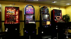 Slot  machines Stock Footage