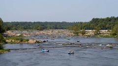 Rafting James River Virginia Stock Footage