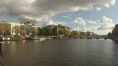 Theatre Carre on the River Amstel, Amsterdam - stock footage
