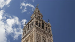 Giralda tower timelapse 4k Stock Footage