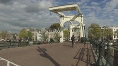 Magere Brug timelapse. Stock Footage