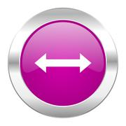 arrow violet circle chrome web icon isolated. - stock illustration