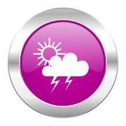 storm violet circle chrome web icon isolated. - stock illustration