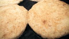 Frying pancakes Stock Footage