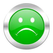 cry green circle chrome web icon isolated. - stock illustration