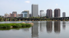 Richmond Virginia Skyline - stock footage