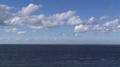 Panoramic view at the sandbank Noorderhaaks (razende bol) in North Sea Stock Footage