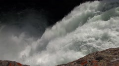 Brink Upper Falls, Yellowstone River - stock footage