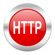 Http red circle chrome web icon isolated.. Stock Illustration
