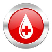 blood red circle chrome web icon isolated. - stock illustration