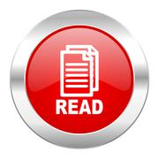 read red circle chrome web icon isolated. - stock illustration