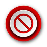Access denied red modern web icon on white background. Stock Illustration