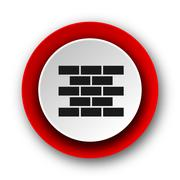 Firewall red modern web icon on white background. Stock Illustration