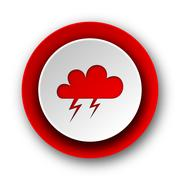 Storm red modern web icon on white background. Stock Illustration
