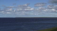 Marsdiep tidal inlet between the North Sea and Wadden Sea + pan sea dike Stock Footage