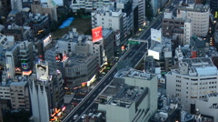 Zoom Out - View of Tokyo Skyline from Roppongi Hills Tower - Tokyo Japan - stock footage