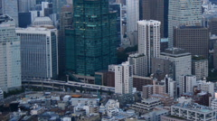 Zoom Out - View of Tokyo Skyline from Roppongi Hills Tower - Tokyo Japan Stock Footage