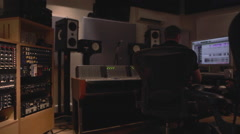 Recording Studio 7 Engineer ProTools, rack, mixing desk Stock Footage