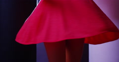 Stock Video Footage of Argentinian woman dancing in pink dress