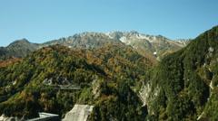 Arround Kurobe dam, color graded Full HD (1920x1080) Stock Footage