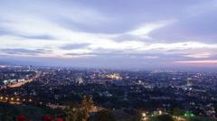 Evening city. Almaty, Kazakhstan. TimeLapse. 1280x720 Stock Footage