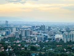 Night over the city. Almaty, Kazakhstan. 640x480 Stock Footage
