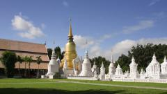 Temple Wat Suan Dok (monastery) in Chiang Mai , Thailand. Stock Footage
