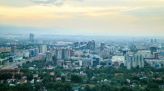 Night over the city. Almaty, Kazakhstan. 1280x720 Stock Footage
