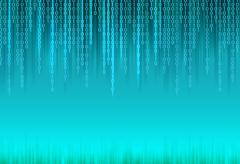 Abstract binary code background. Stock Illustration