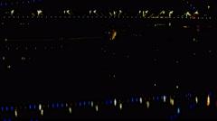 Night to sunrise Brisbane bridge time lape tilt 4K Stock Footage