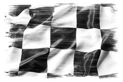 checkered flag on plain background - stock illustration