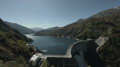 Kurobe dam wide angle, non color graded Full HD (1920x1080) Stock Footage