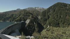 Kurobe dam mountains, non color graded Full HD (1920x1080) Stock Footage